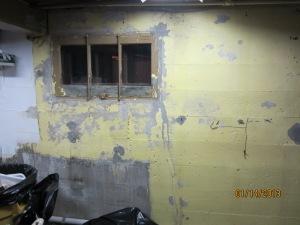 basement wall before