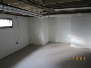 basement walls after