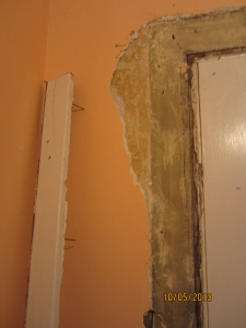 Couldn't help but crack some of the plaster. Fixing it is the next step.