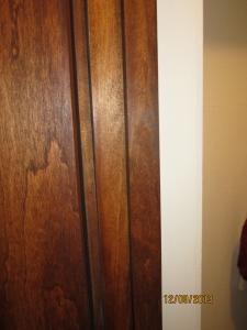 The door stop, repaired and reinstalled.