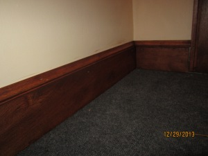 Floor trim replaced.