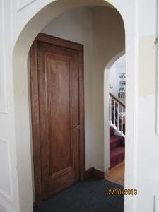 Closet door.