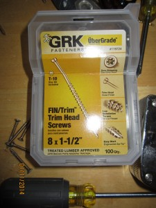 Trim head screws.