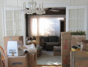 """the only """"before"""" picture I have of the dark sunroom - think I was in shock about the amount of work needing to be done"""