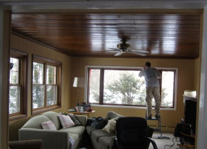 installing new window trim after painting the walls