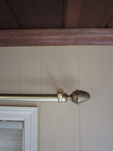 sunroom drapery rods with pineapple finial