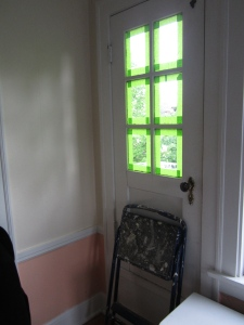 This is the only window we painted in this room. The remaining four need to be refurbished.