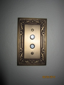 Push button light switches.